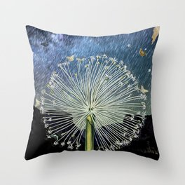 stardust and mothdust Throw Pillow