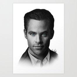 Chris Pine Art Print