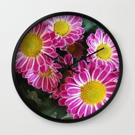 Fleurette Daises 2 Wall Clock