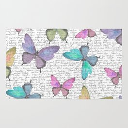 Butterflies  (white) Rug