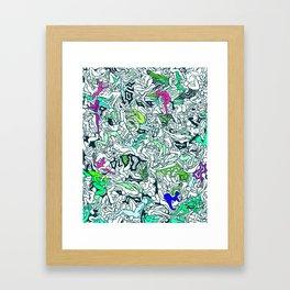 Kamasutra LOVE - Forest Green Framed Art Print