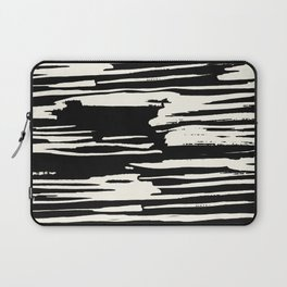 Modern Tribal Stripe Ivory and Black Laptop Sleeve