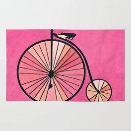 Old bicycle Rug