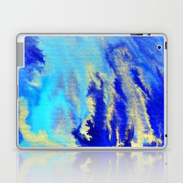 Gold & blue abstract 1710009 Laptop & iPad Skin