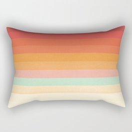 Rainbow Chevrons II Rectangular Pillow