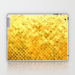Give me Gold: festive, golden, fashionable, 3-d, glittery, Christmas, cheerful, lattice design Laptop & iPad Skin