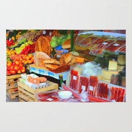 Croatian Food Market Rug