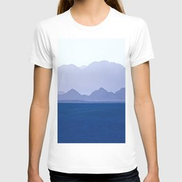 Mountains Range in Shades of Blue T-shirt