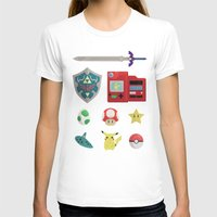 video games T-shirts featuring video games by Black