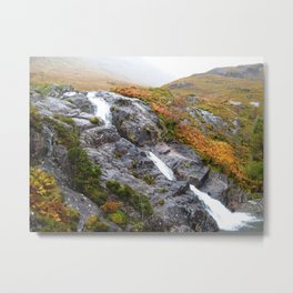 Highland Waterfall Metal Print
