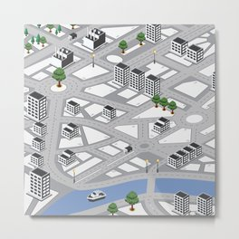Map of city Metal Print