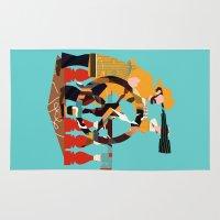 captain silva Area & Throw Rugs featuring Captain by Design4u Studio
