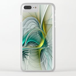 Fractal Evolution, Abstract Art Graphic Clear iPhone Case