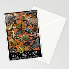 Save Our Species: Vanishing Reptiles of the World Stationery Cards