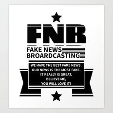 Fake News Art Print