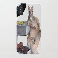 kangaroo iPhone & iPod Cases featuring Kangaroo by Big AL