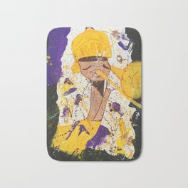 """I BLEED PURPLE AND GOLD"" Bath Mat"