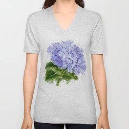 Watercolor hydrangea Unisex V-Neck