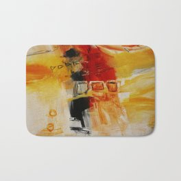 Abstract Gold Painting  Bath Mat