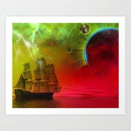 """Meteor Storm"" Art Print"