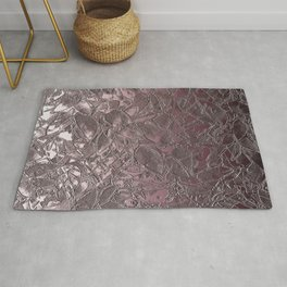 Grunge Relief Floral Abstract G163 Rug