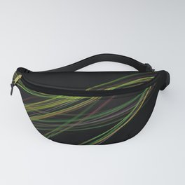 Abstract fractal line picture on the dark background Fanny Pack