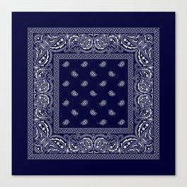 Bandana - Navy Blue - Southwestern Canvas Print