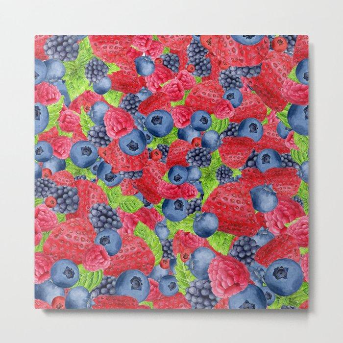 Berries Pattern 01 Metal Print