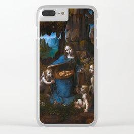 "Leonardo da Vinci ""The Virgin of the Rocks"" (London) Clear iPhone Case"