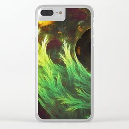 Psychedelic Seaweed Swimming in Yummy Brown Miso Soup Clear iPhone Case