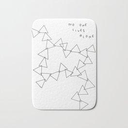 No One Lives Alone no.4 - geometric triangle Bath Mat
