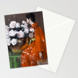 The Spring Flower by William Merritt Chase - Vintage Victorian Retro Fine Art Oil Painting Stationery Cards