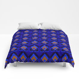 Blue and Orange Pattern Comforters
