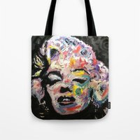 hollywood Tote Bags featuring Hollywood by Matt Pecson