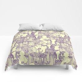 just cattle purple cream Comforters