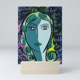 Lost Dreams French Art Portrait by Emmanuel Signorino Mini Art Print