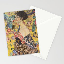Gustav Klimt - Woman with Fan Stationery Cards