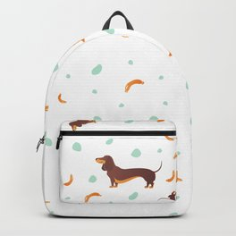 Simple modern Seamless pattern with dog. Cartoon pattern. Backpack