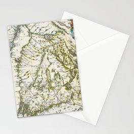 Vintage Map of Finland (1662) Stationery Cards