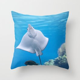 White-spotted eagle ray Throw Pillow