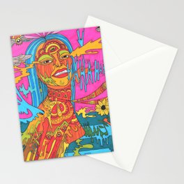 The Beginning of Insanity is The Opening Of The Mind Stationery Cards