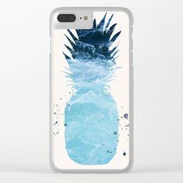 Ocean Pineapple Clear iPhone Case