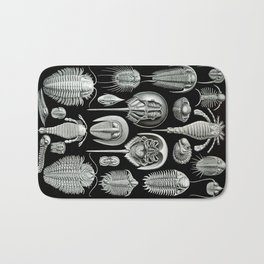Trilobites and Fossils by Ernst Haeckel Bath Mat