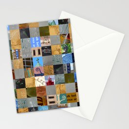 Pieces of Pictures Collage Stationery Cards