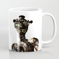 robot Mugs featuring robot by Кaterina Кalinich