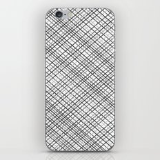 Weave 45 Black and White iPhone & iPod Skin