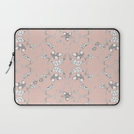 Acorns and ladybugs pink pattern Laptop Sleeve