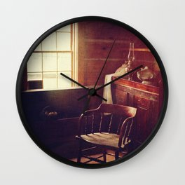 The Old Log Cabin Wall Clock