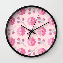 SAKURA CHERRY BLOSSOMS Wall Clock