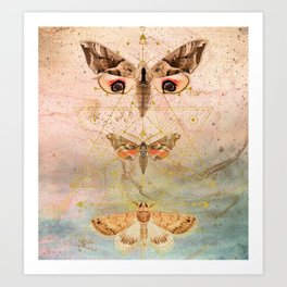 Then The Moths Came Art Print